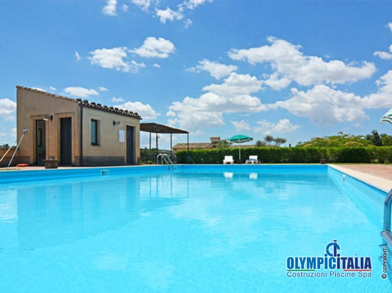 Costruzione piscina agriturismo sicilia
